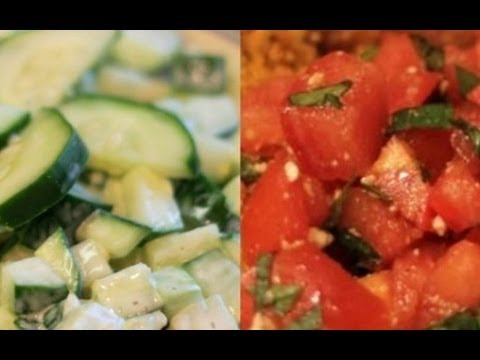 2 Cool Salad Sides: Tomato and Cucumber