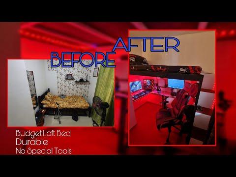 DIY LOFT BED   BUDGET LOFT BED   Small room makeover