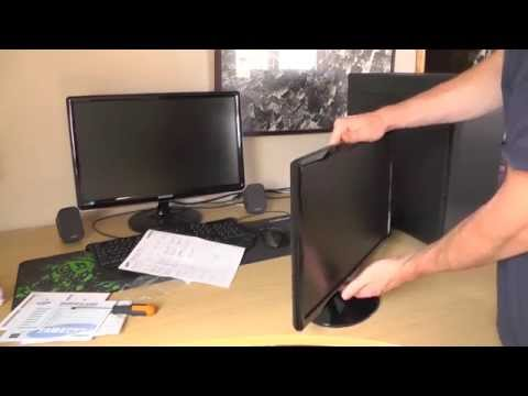 Samsung S22D300 - Unboxing Video and Setup [HD 1080p]