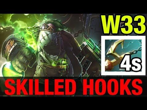 SKILLED HOOKS !! - W33 PUDGE - Dota 2