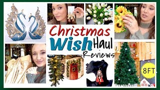 WISH Christmas / Decor Haul & GIFT IDEAS   25 Days of Christmas Day 3