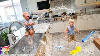 Indoor Swimming Pool Prank! 😱 (CAUGHT ON CAMERA!)