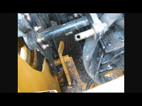 John Deere 110 TLB backhoe removal process