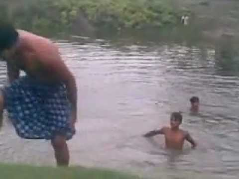 nizampur masti in river.