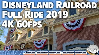 Disneyland Railroad - Full Ride 2019 - 4K 60fps - HQ Audio