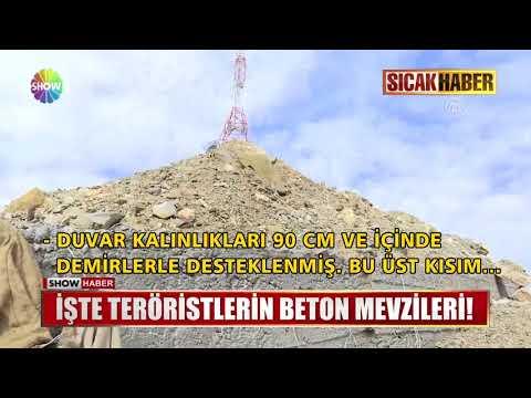 İşte teröristlerin beton mevzileri!