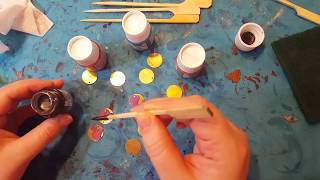Pebeo Fantasy Paints - Experiments for Jewelry Makers