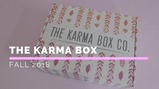 The Karma Box Subscription Box Unboxing Fall 2018