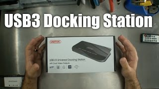 Unitek USB3 Docking Station with Dual Display / RJ45 / audio - unboxing and review