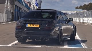 Mercedes C63 AMG w/ iPE Exhaust - Powersliding & Accelerations!