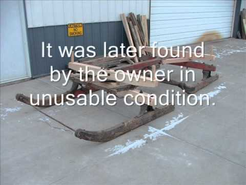 Horse Drawn Sleigh Rebuild Using A Wood Mizer Youtube