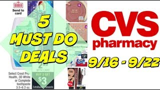 5 MUST DO CVS DEALS 9/16 - 9/22   Cheap Toothpaste, Paper Products , Makeup & more