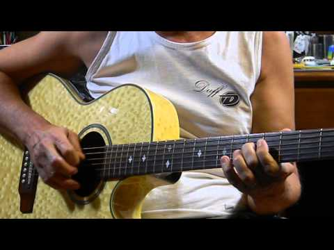 Easy E Blues Chords & Riff  - How to Play Blues Guitar - Acoustic Blues Guitar Jam in E