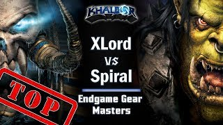 ► WarCraft 3: XLord (UD) vs. Spiral (Orc) - Endgame Gear Masters