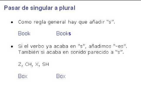 ingl 233 s 20 pasar de singular a plural
