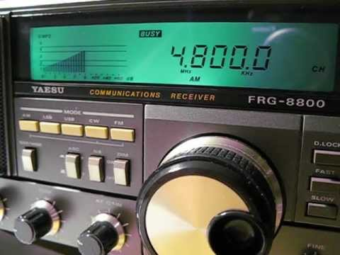 All India Radio Hyderabad, 4800 khz, received on a Yaesu FRG 8800
