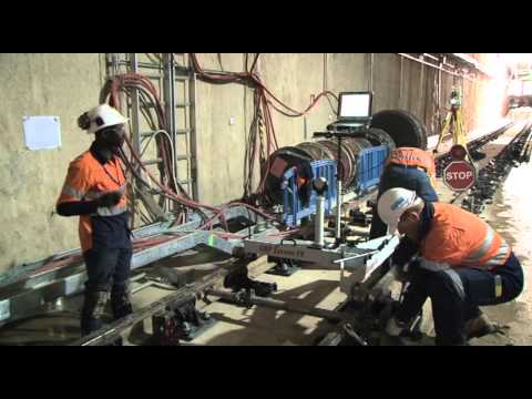 Perth City Link: Rail installation 2013