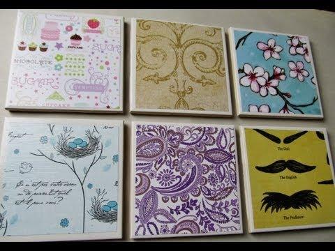 Let's Make DIY Tile Coasters! ASMR Arts and Crafts