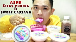 ASMR Silky Puding And Sweet Kasava | Dessert | Eating Show |ASMR Indonesia