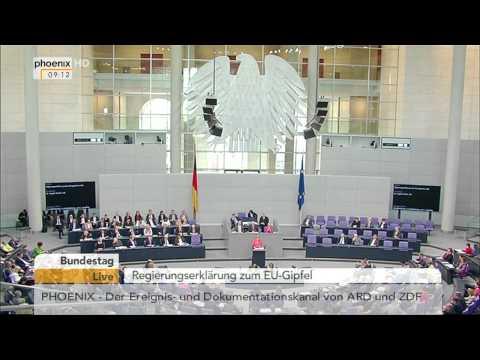 Bundestag: Regierungserklärung zum Europäischen Rat von Angela Merkel am 18.06.2015