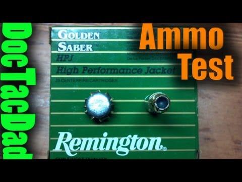 Hog's Head Ballistics - Remington Golden Saber 124gr+P 9mm
