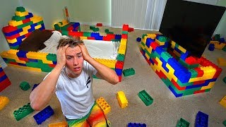 Replacing my brothers entire room with legos prank!
