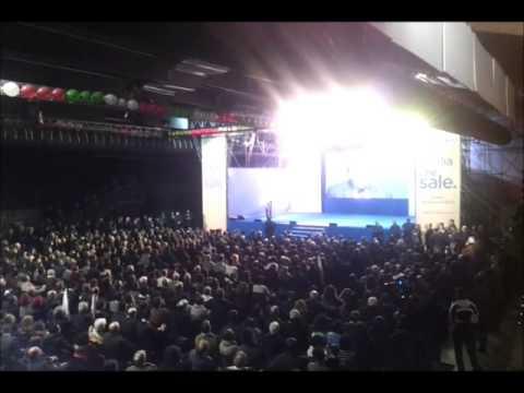 Mario Monti incontra i sostenitori e i candidati. Con Montezemolo e Riccardi