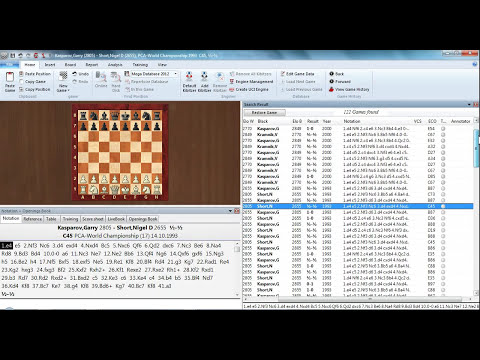 ChessBase 12 Intelligent search