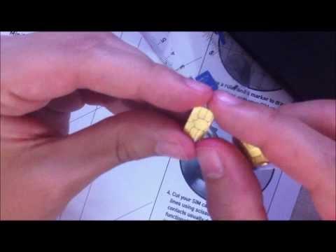 Tutorial como cortar chip MINI SIM para NANO SIM - tim beta - moto X - funcional