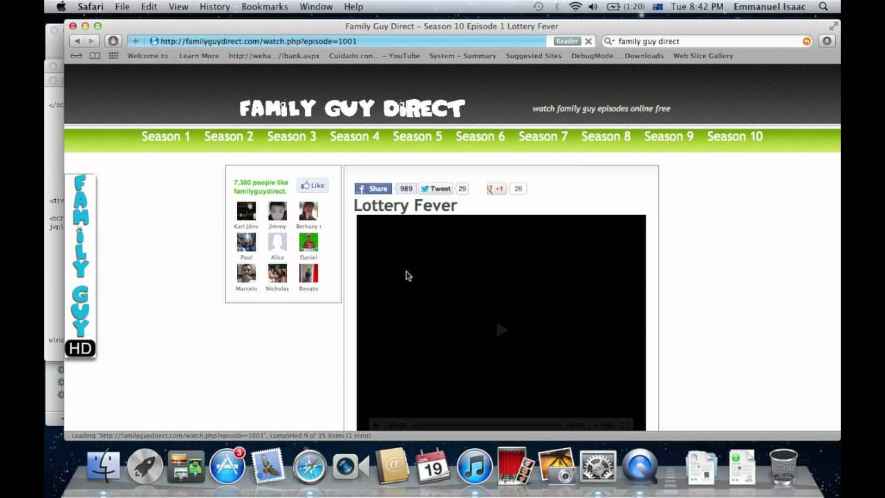How to download family guy episodes in family guy direct for Ep ptable queue proc