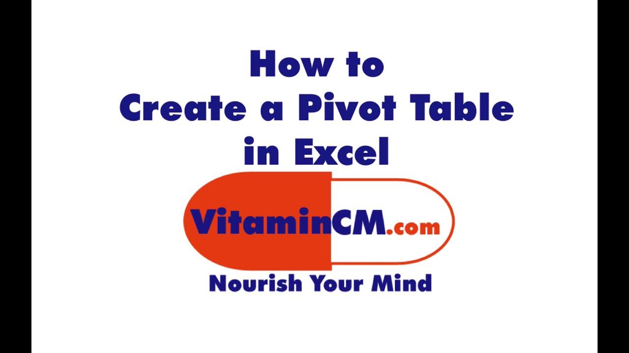 pivot table excel 2007 pdf