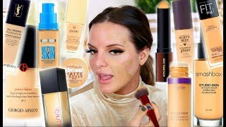 MIXING ALL MY FOUNDATIONS TOGETHER!    Casey Holmes