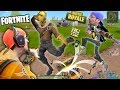 FORTNITE Battle Royale Rap!  FGTEEV Vs. 100 PEOPLE PVP! SNIPER FUNNY MOMENTS + New Map Double Chests