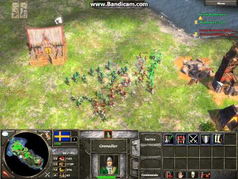 Age of Empires 3 Napoleonic Era Gameplay - Swedes Vs. Prussians (Short)