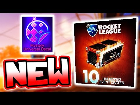 NEW CRATE ANNOUNCED: Mystery Decals, Items & Decryptors ( Rocket League Update )