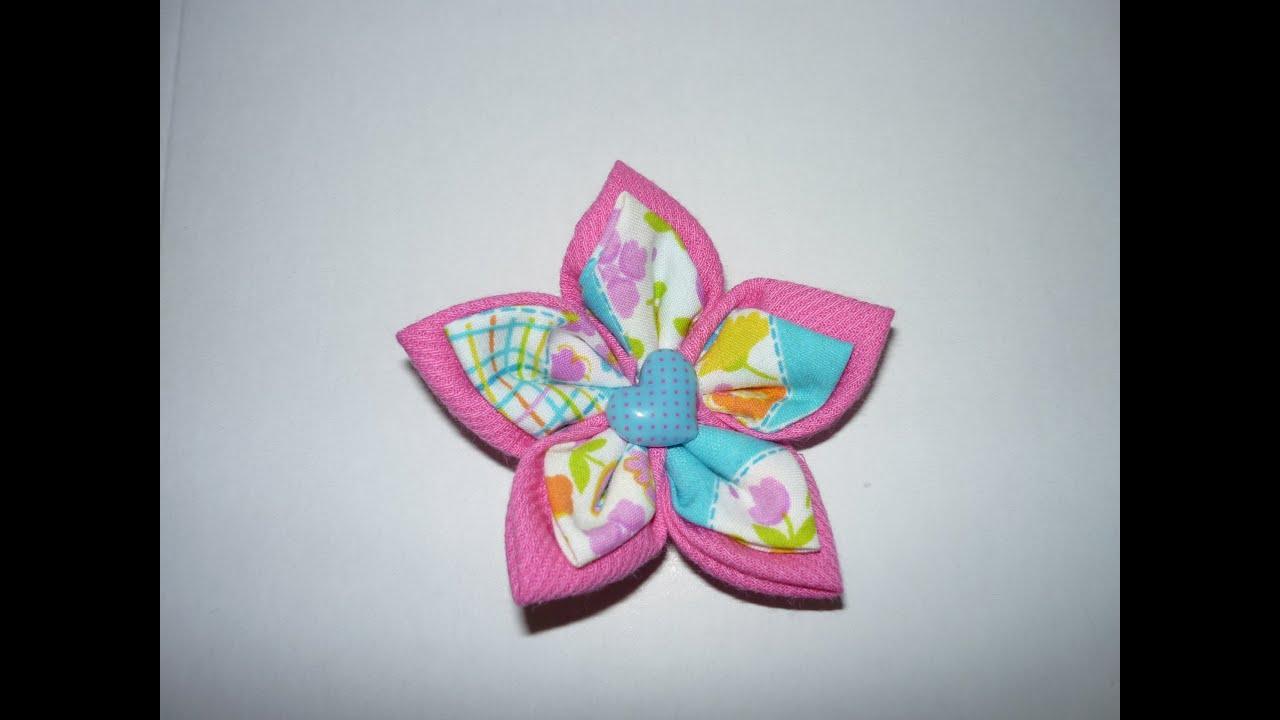 Tutorial de flores en tela para decorar accesorios o manualidades video 09 manualidades la - Telas para decorar ...
