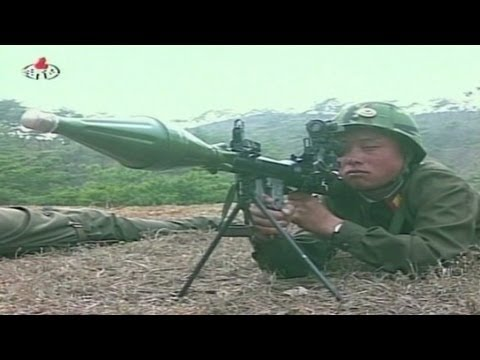 State TV shows North Korean soldiers shooting at a paper ...