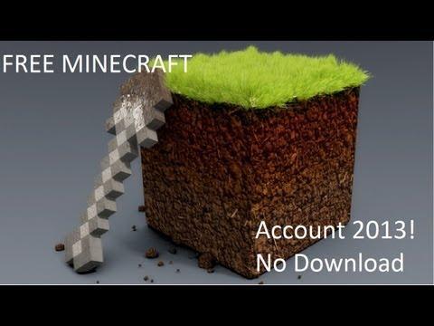 Free Minecraft Account 2013   No Download