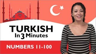 Learn Turkish - Turkish in Three Minutes - Numbers 11-100