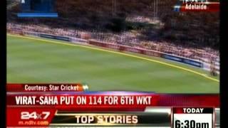 Virat-Saha Put On 114 For 6Th Wkt-Indiaecho.com