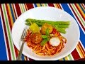 Rice Balls with Spaghetti Meal Menu | Video Recipe