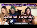 Musical Genre Challenge with Ariana Grande | Couple Reacts mp3