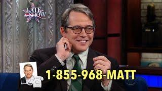 Call 1-855-968-MATT If You Have A Job For Matthew Broderick