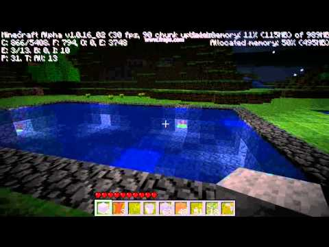 Minecraft Swimming Pool Youtube