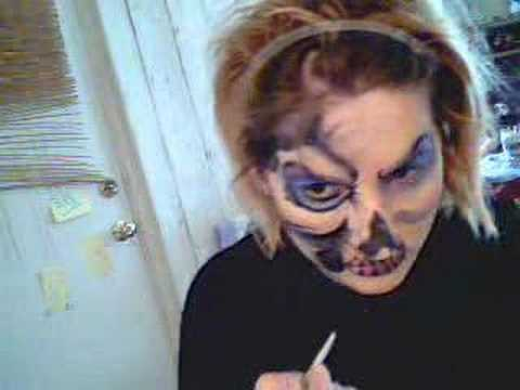 Face Painting: Skull Face Painting Moment of Gory Video