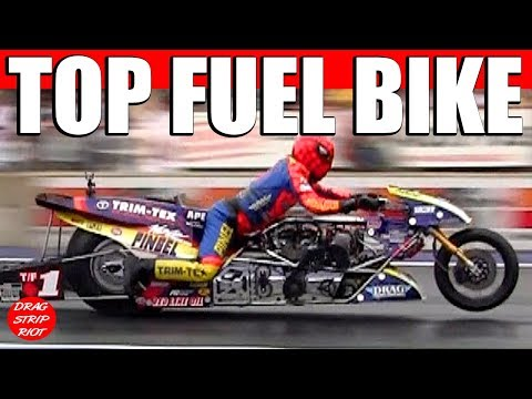 2013 Night Under Fire Larry Spiderman McBride Nitro Top Fuel Motorcycle Nostalgia Drag Racing