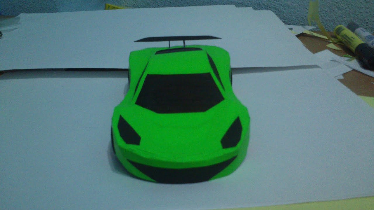 Simple Papercraft Car Youtube