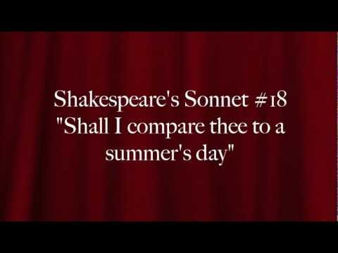shall i compare thee to a Shakespeare's sonnets require time and effort to appreciate understanding the  numerous meanings of the lines, the crisply made references, the brilliance of.