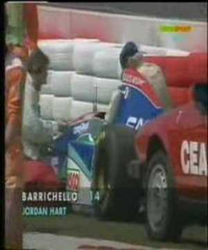 This is the vid from Rubens Barrichello's crash. He escaped from death and for me this was the start of the horrible weekend in 1994 during the Imola GP. Jus...