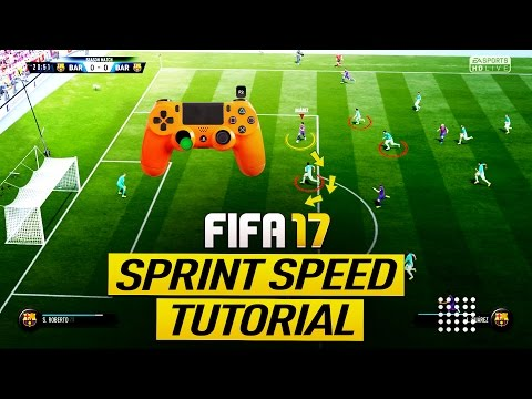 FIFA 17 SPRINT SPEED SECRET TRICK TUTORIAL - BEST ATTACKING MOVE - HOW TO SPEED BOOST (H2H & FUT)
